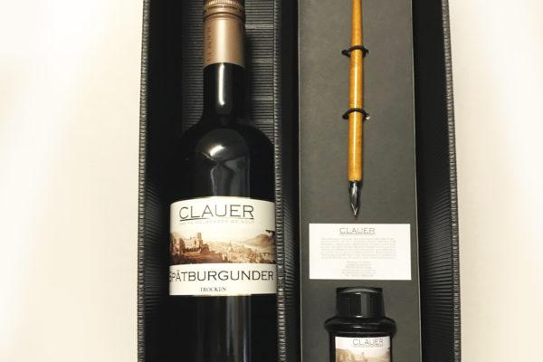 Set aus Tinte Spätburgunder und Füllfederhalter von Weingut Clauer